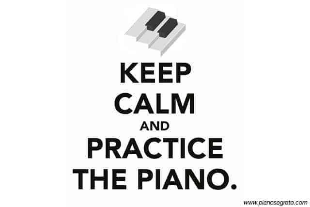 Errori al pianoforte dovuti alla mancanza di pratica