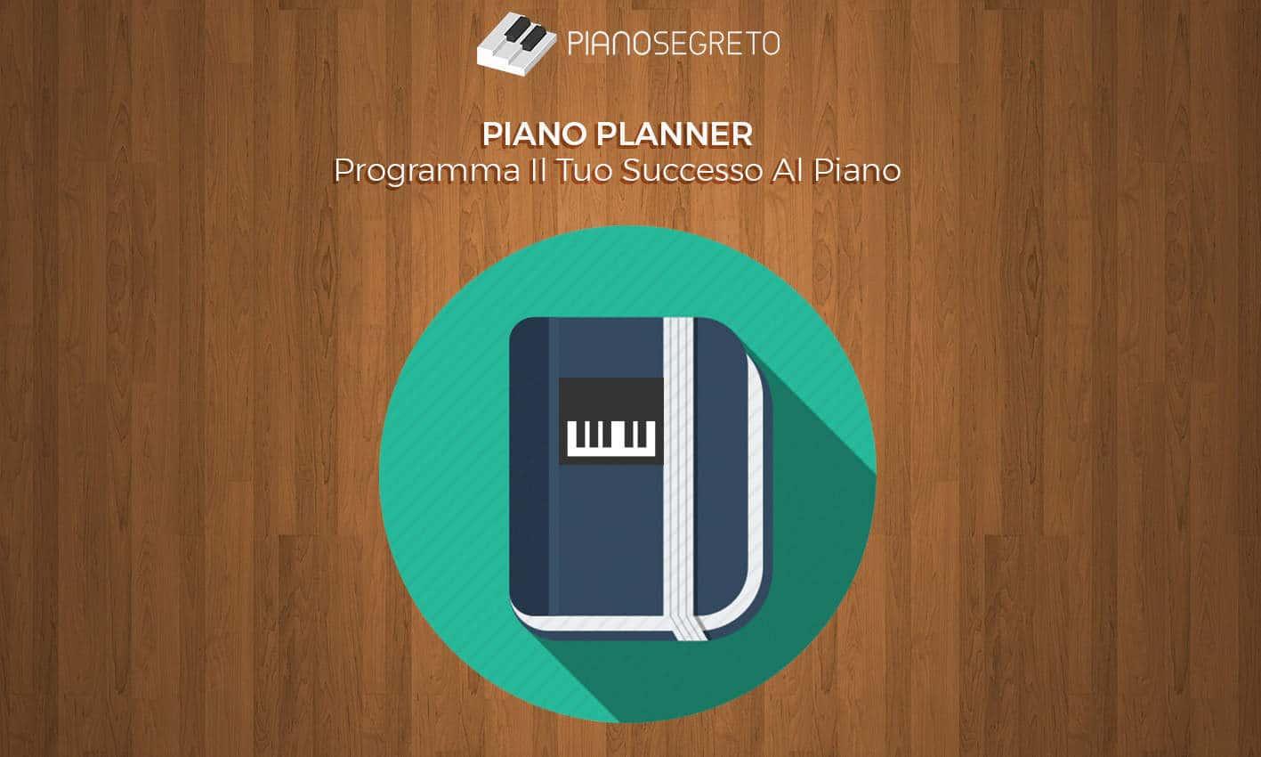 planner per studiare pianoforte