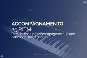 accompagnare con i ritmi al pianoforte
