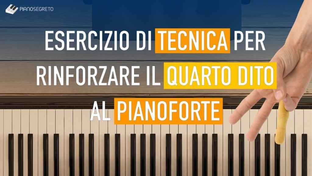 esercizio di tecnica al pianoforte