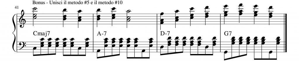 armonizzare una melodia al pianoforte