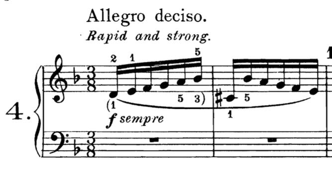 diteggiatura al pianoforte bach