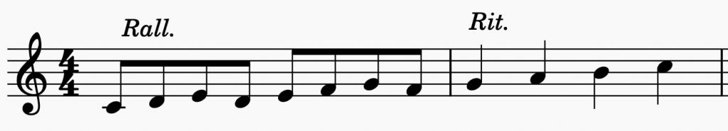 rallentando al pianoforte